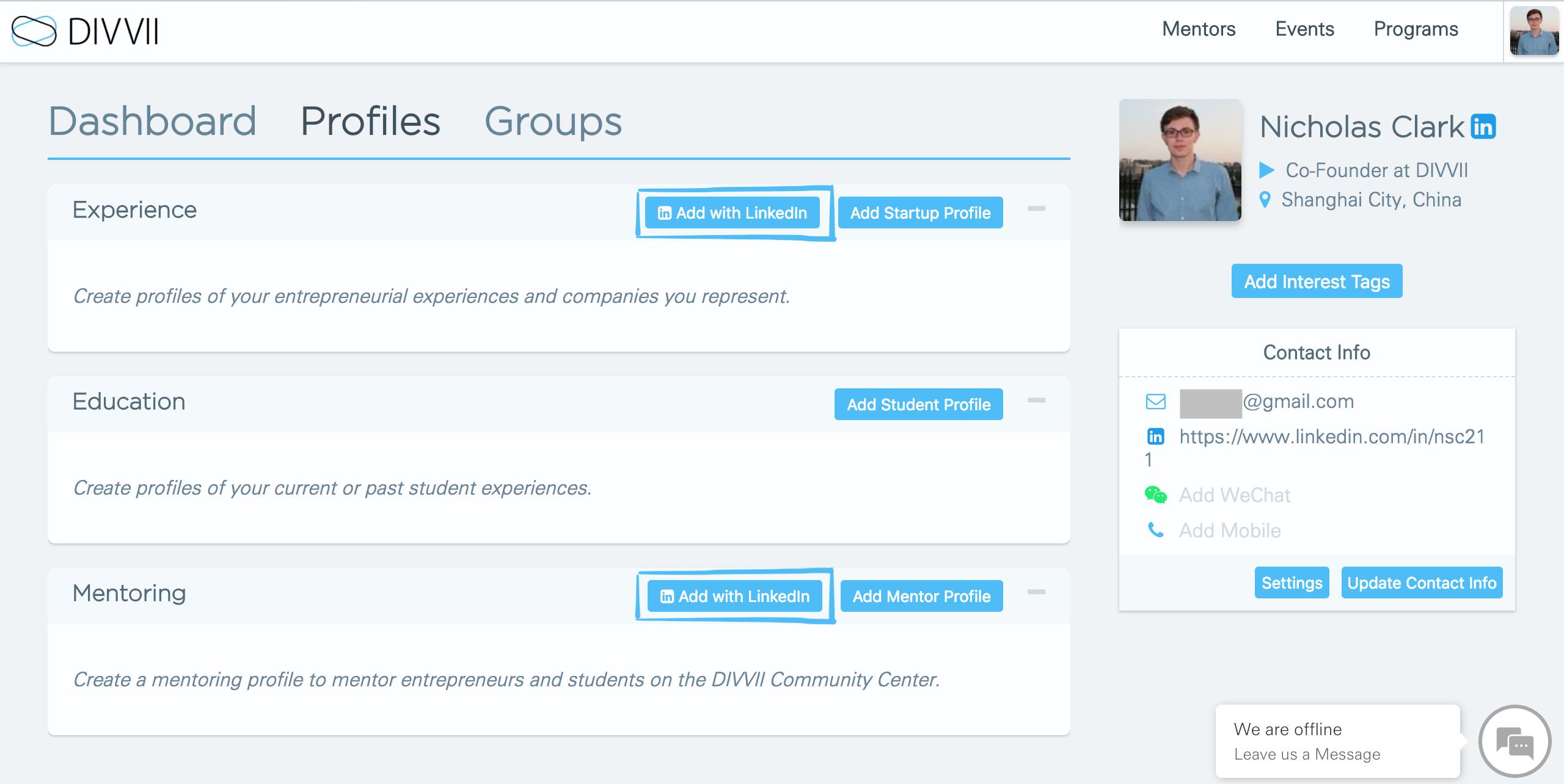 Create a Mentor Profile with LinkedIn - Blog - DIVVII
